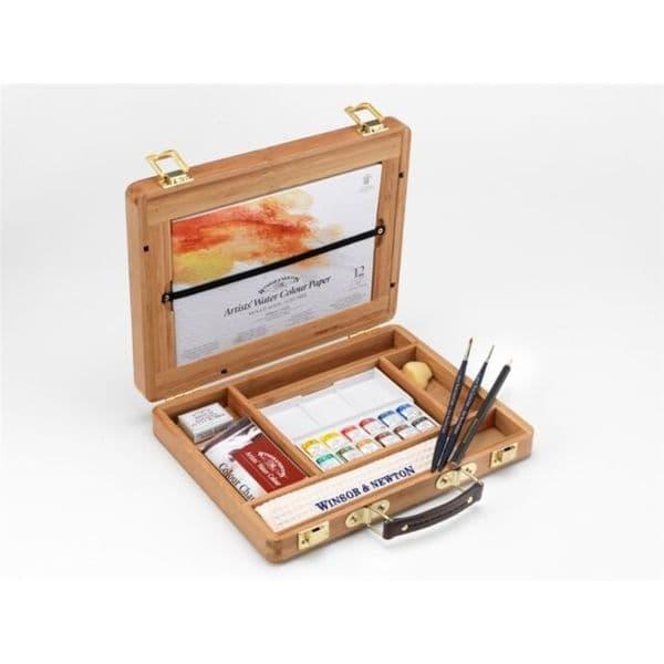 Winsor & Newton Artists Watercolour Half Pan Bamboo Set